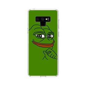 Smug Pepe Frog Funny Meme Samsung Galaxy Note 9 Clear Case