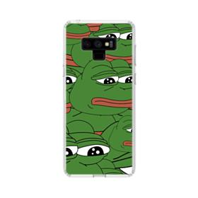 Sad Pepe frog seamless Samsung Galaxy Note 9 Clear Case