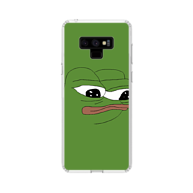 Sad Pepe frog Samsung Galaxy Note 9 Clear Case