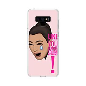 Crying Kim emoji kimoji meme  Samsung Galaxy Note 9 Clear Case
