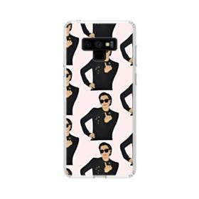 Kris Jenner middle finger meme Samsung Galaxy Note 9 Clear Case