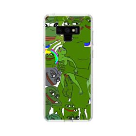 Rare pepe the frog seamless Samsung Galaxy Note 9 Clear Case