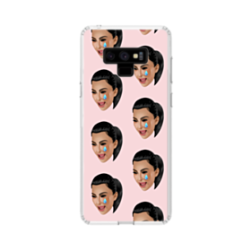 Crying Kim emoji kimoji seamless Samsung Galaxy Note 9 Clear Case