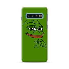 Smug Pepe Frog Funny Meme Samsung Galaxy S10 Case