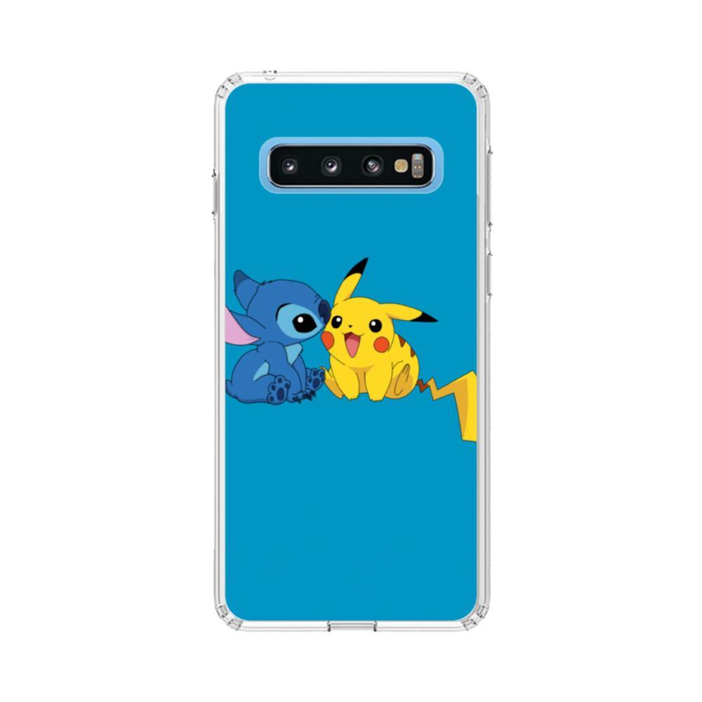 Stitch X Pikachu Samsung Galaxy S10 Clear Case Caseformula