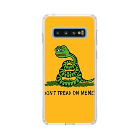 Pepe the frog don't tread on memes Samsung Galaxy S10 Clear Case