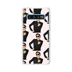 Kris Jenner middle finger meme Samsung Galaxy S10 Clear Case
