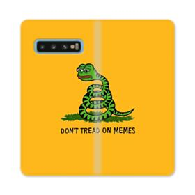 Pepe the frog don't tread on memes Samsung Galaxy S10 Flip Case