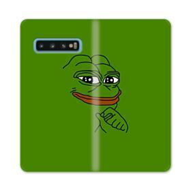 Smug Pepe Frog Funny Meme Samsung Galaxy S10 Flip Case