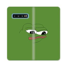 Sad Pepe frog Samsung Galaxy S10 Flip Case