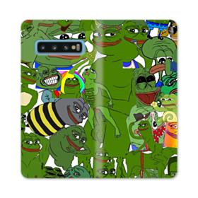 Rare pepe the frog seamless Samsung Galaxy S10 Flip Case
