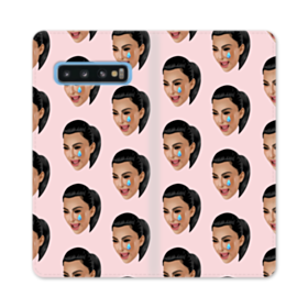Crying Kim emoji kimoji seamless Samsung Galaxy S10 Flip Case
