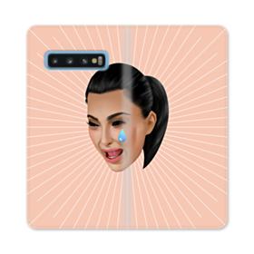 Crying Kim emoji kimoji Samsung Galaxy S10 Flip Case