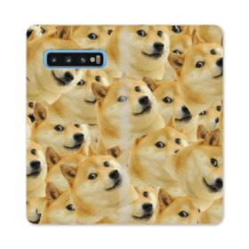 Doge meme seamless Samsung Galaxy S10 Flip Case