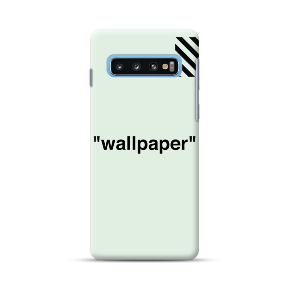 Wallpaper Stripes Minimalism Samsung Galaxy S10 Plus Case Caseformula
