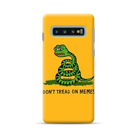 Pepe the frog don't tread on memes Samsung Galaxy S10 Plus Case