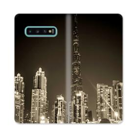 City night skyline Samsung Galaxy S10 Plus Flip Case