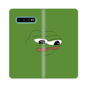 Sad Pepe frog Samsung Galaxy S10 Plus Flip Case