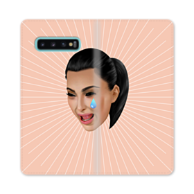 Crying Kim emoji kimoji Samsung Galaxy S10 Plus Flip Case