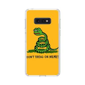 Pepe the frog don't tread on memes Samsung Galaxy S10e Clear Case