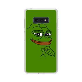 Smug Pepe Frog Funny Meme Samsung Galaxy S10e Clear Case