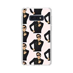 Kris Jenner middle finger meme Samsung Galaxy S10e Clear Case