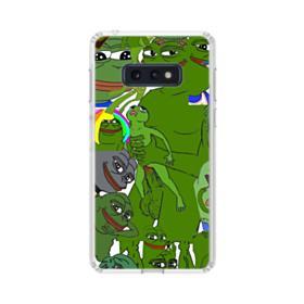 Rare pepe the frog seamless Samsung Galaxy S10e Clear Case