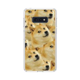 Doge meme seamless Samsung Galaxy S10e Clear Case