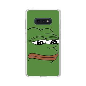 Sad Pepe frog Samsung Galaxy S10e Clear Case