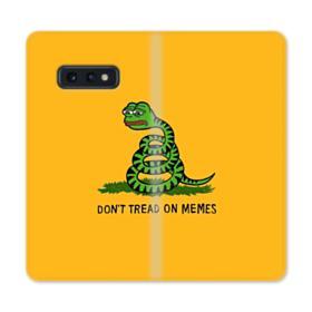 Pepe the frog don't tread on memes Samsung Galaxy S10e Flip Case