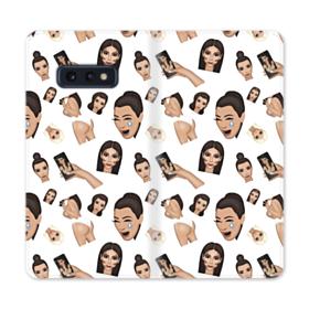 Kim Kardashian Emoji Kimoji seamless Samsung Galaxy S10e Flip Case