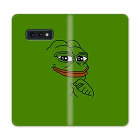 Smug Pepe Frog Funny Meme Samsung Galaxy S10e Flip Case