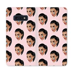 Crying Kim emoji kimoji seamless Samsung Galaxy S10e Flip Case