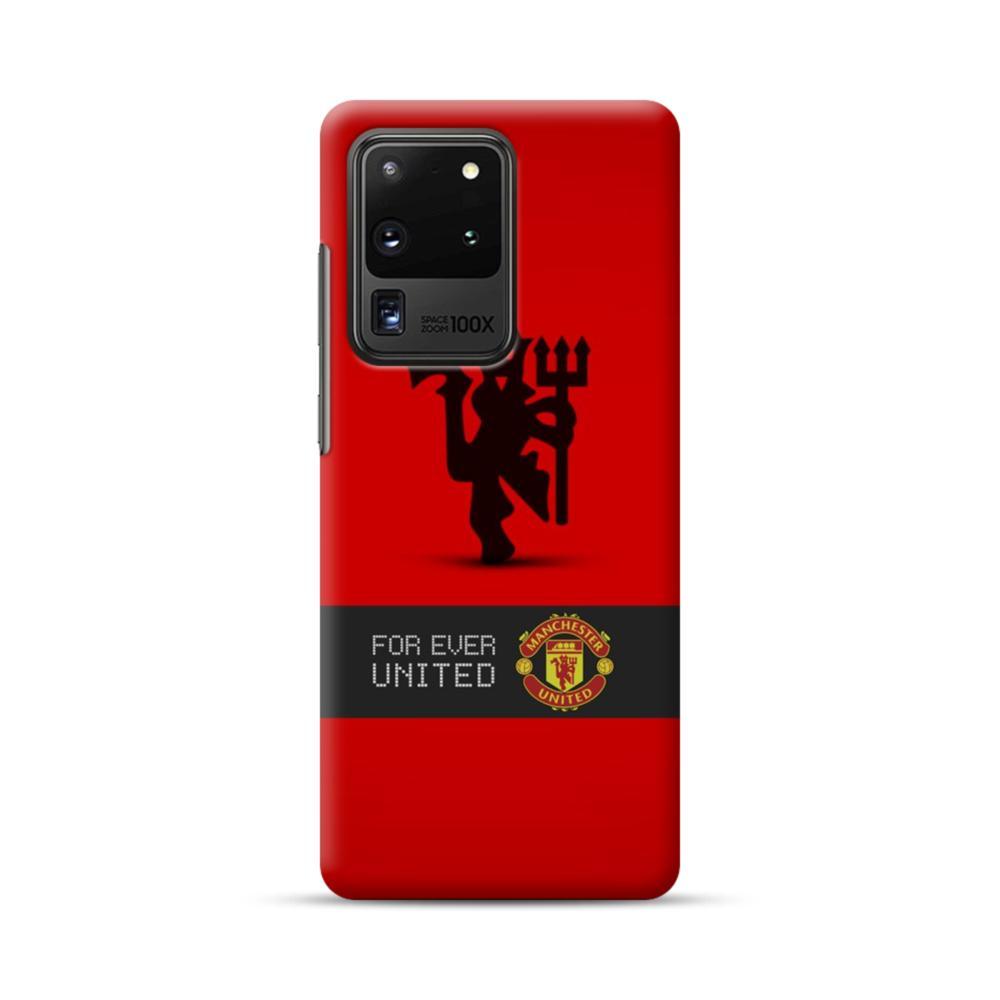 Manchester United Team Logo Red Devil Banner Samsung Galaxy S20 Ultra 5g Case Caseformula