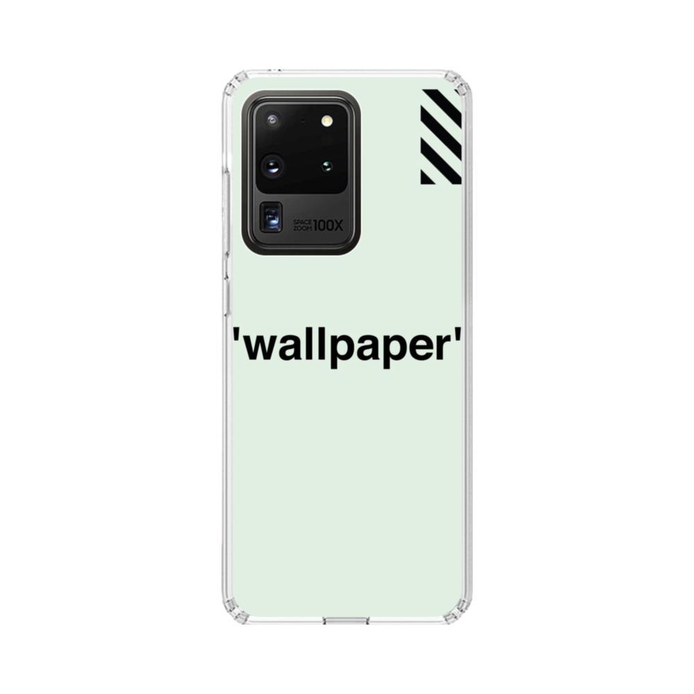 Wallpaper Stripes Minimalism Samsung Galaxy S20 Ultra 5g Clear Case Caseformula