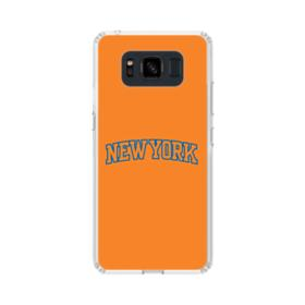 New York Team Logo Orange Samsung Galaxy S8 Active Case