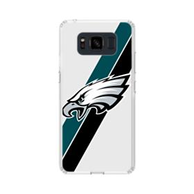 Philadelphia Eagles Team Logo Diagonal Stripes Samsung Galaxy S8 Active Case