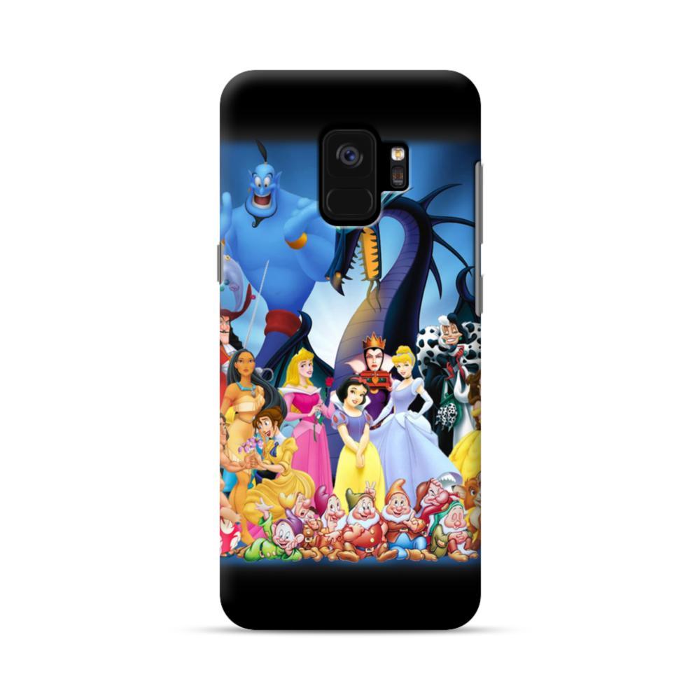 huge selection of b0d35 b65c7 Disney Animated Cartoon Characters Samsung Galaxy S9 Case