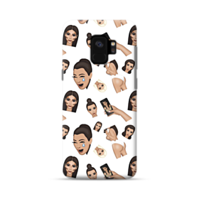 Kim Kardashian Emoji Kimoji seamless Samsung Galaxy S9 Case