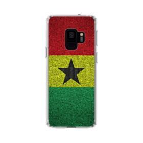 Flag of Ghana Cracks Samsung Galaxy S9 Clear Case