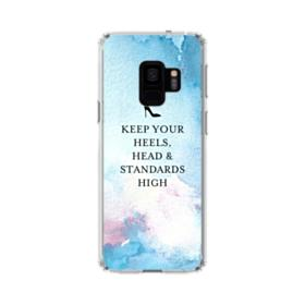Coco Chanel Quote Keep Your Heels Head Standards High Samsung Galaxy S9 Clear Case