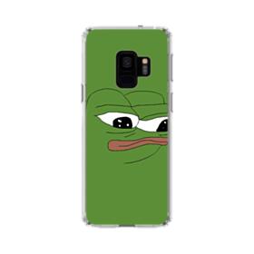 Sad Pepe frog Samsung Galaxy S9 Clear Case