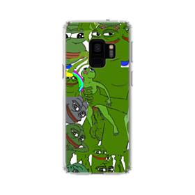 Rare pepe the frog seamless Samsung Galaxy S9 Clear Case