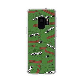 Sad Pepe frog seamless Samsung Galaxy S9 Clear Case