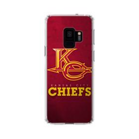 Kansas City Chiefs Logo Grunge Samsung Galaxy S9 Clear Case