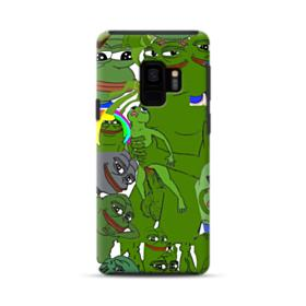 Rare pepe the frog seamless Samsung Galaxy S9 Hybrid Case