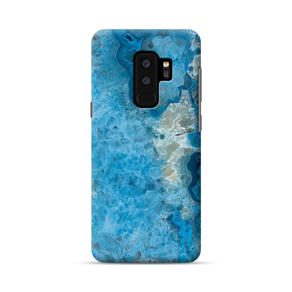 finest selection 3a93c b56fc Peacock Blue Marble Samsung Galaxy S9 Plus Case