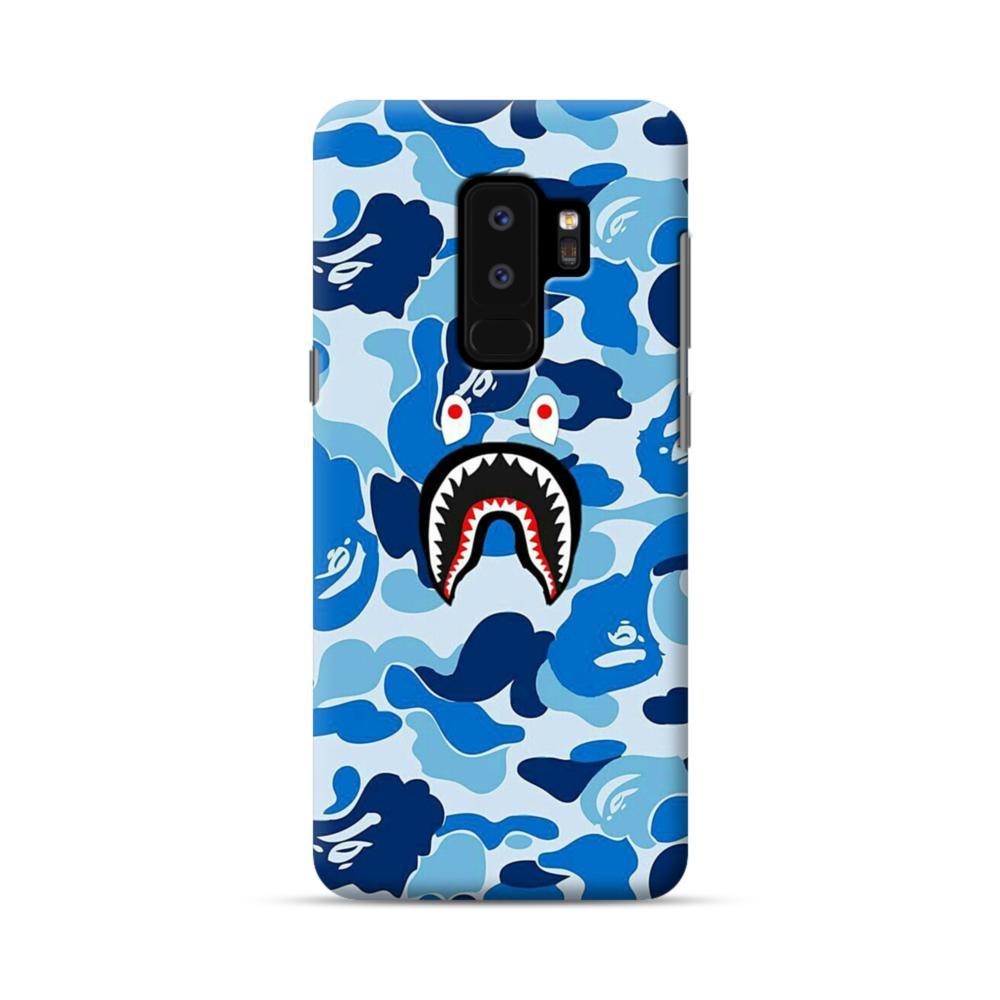 half off 76887 f8620 Bape Shark Blue Camo Samsung Galaxy S9 Plus Case