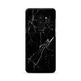 Black Marble White Veins Samsung Galaxy S9 Plus Case