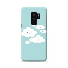 Cartoon Smiling Clouds  Samsung Galaxy S9 Plus Case